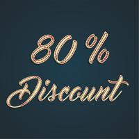Signe de cuir «discount», illustration vectorielle vecteur