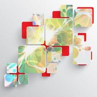 Modèle coloré pour la publicité, illustration vectorielle