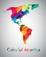 Vecteur coloré Amérique