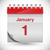 Calendrier pour le nouvel an, vector