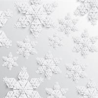 Illustration vectorielle de papier abstrait flocon de neige