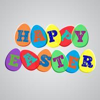 Illustration colorée pour Pâques, vecteur
