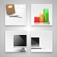 Modèles d'affaires colorés, vector