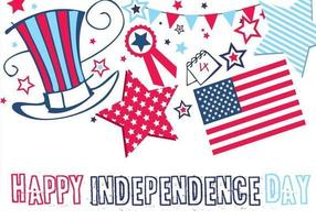 Joyeux anniversaire de l'indépendance, papier peint et pack vecteur
