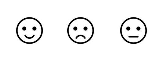 collection d'emoji de rétroaction simple isolée vecteur