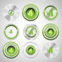 Boutons d'écologie, vector