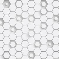 Fond d'hexagone en papier avec ombres portées. Illustration vectorielle