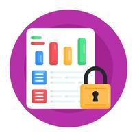 rapport et document confidentiels vecteur