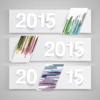 2015 en papier, vecteur