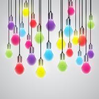 Ampoule réaliste, illustration vectorielle vecteur