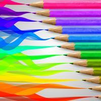 Crayons colorés en bois réalistes, vector