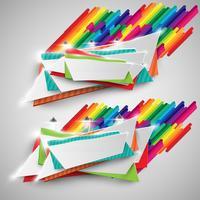 Panneau d'affichage coloré pour la publicité, vecteur