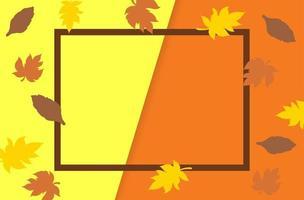 fond d'affichage du thème de la saison des ventes d'automne. vecteur