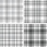 motif monocrom à carreaux sans couture. échantillon de plaid tartan textile vecteur