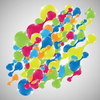 Formes abstraites colorées, vector