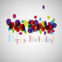 Illustration vectorielle d'une carte de voeux de joyeux anniversaire vecteur