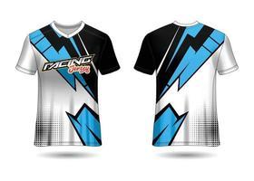 conception de t-shirt sport. maillot de course. vue avant et arrière uniforme. vecteur