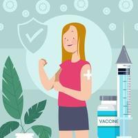 concept de vaccin contre le virus corona vecteur