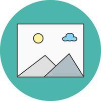 icône de la galerie de vecteur