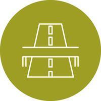 Icône de pont routier de vecteur