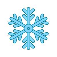 icône de flocon de neige de vecteur