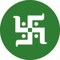 icône de vecteur signe hindou