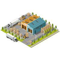 Zone industrielle d'entrepôt