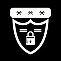 icône de bouclier de vecteur