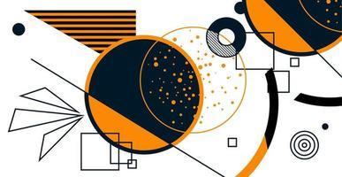 bauhaus, memphis affiche rétro minimaliste illustration vectorielle graphique vecteur