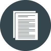 icône de document vectoriel