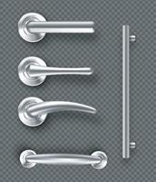 ensemble de poignées de porte modernes pour portes ou fenêtres. vecteur
