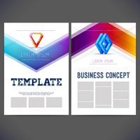 Style de société de conception de modèle abstrait vectoriel pour les entreprises