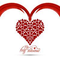 Fond moderne Happy Valentine's Day