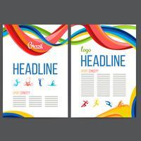 Brochure Concept Carnaval Brésilien vecteur