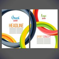 Brochure Color Concept Sports vecteur