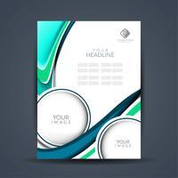 Conception de brochure d'entreprise moderne vecteur