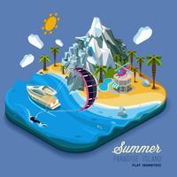 Scène de plage de vacances