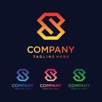 icônes du logo de la lettre s pour les affaires de la mode, du sport, de la technologie numérique vecteur