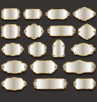 Collection de cadres et étiquettes vintage rétro vecteur
