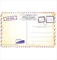 Vecteur de carte postale dans le style de courrier aérien