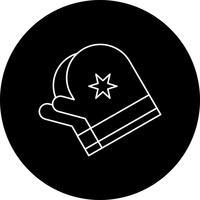 icône de gants de vecteur