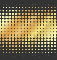 Effet de demi-teintes fond or abstrait vectoriel en pointillé