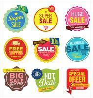 Badges et étiquettes modernes