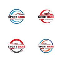 vecteur de conception de modèle de logo de voiture de sport