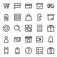 pack d'icônes de commerce électronique vecteur