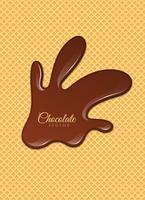 Chocolat liquide ou peinture brune. Illustration vectorielle