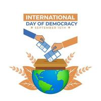 journée internationale de la démocratie, il y avait un bulletin de vote vecteur