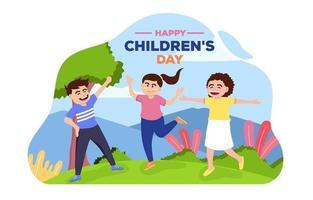joyeuse journée de l'enfance vecteur