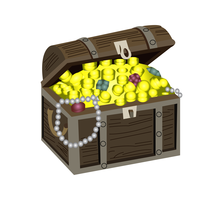 Illustration vectorielle coffre au trésor vecteur