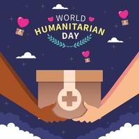journée mondiale de l'humanitaire vecteur
